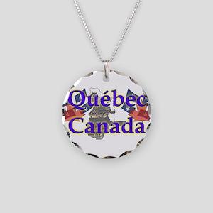 Québec Necklace Circle Charm