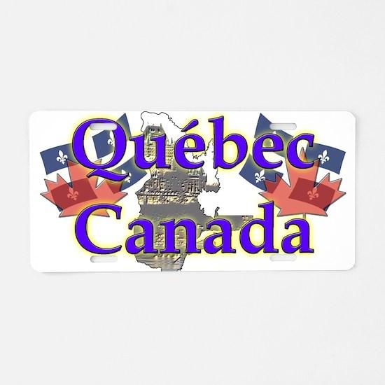 Québec Aluminum License Plate