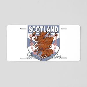 Dunbartonshire Aluminum License Plate