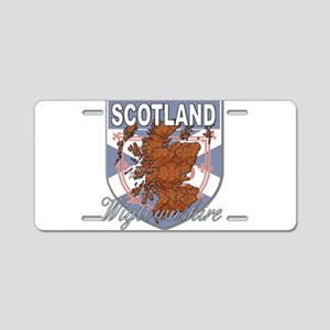Wigtownshire Aluminum License Plate