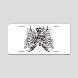 Winged Death Aluminum License Plate