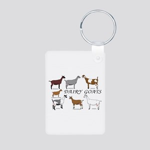 ALL Dairy Does Aluminum Photo Keychain