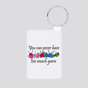 Yarn Aluminum Photo Keychain