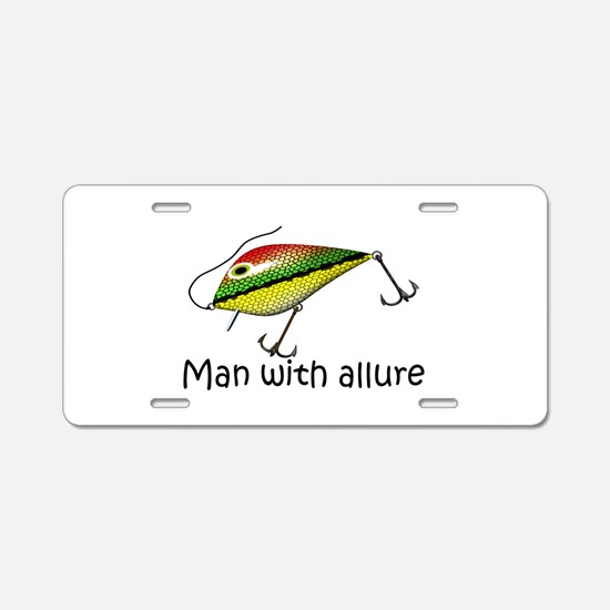Man With Allure Aluminum License Plate