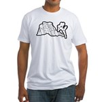 Joshua Tree and Intersection Fitted T-Shirt