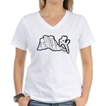 Joshua Tree and Intersection Women's V-Neck T-Shir