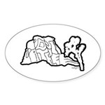 Joshua Trees and Intersection Sticker (Oval)