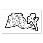 Joshua Tree and Intersection Sticker (Rectangle)