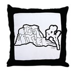 Joshua Trees and Intersection Throw Pillow