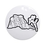 Joshua Tree and Intersection Ornament (Round)