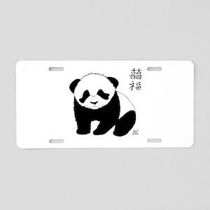 Panda Cub Aluminum License Plate