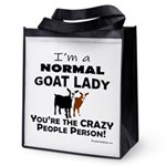 I'm A Normal Goat Lady! Reusable Grocery Tote