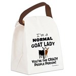 I'm A Normal Goat Lady! Canvas Lunch Bag