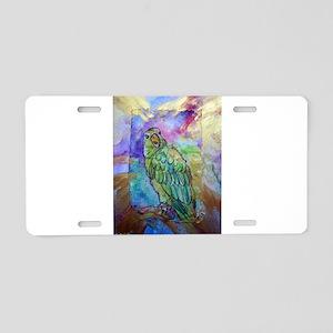 Beautiful, Green, Parrot, Aluminum License Plate