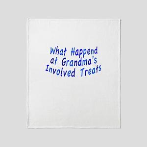 Grandma Treats Throw Blanket