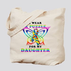 I Wear A Puzzle for my Daughter Tote Bag