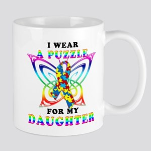 I Wear A Puzzle for my Daughter Mug