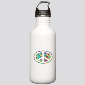 Peace Groovy Floral Stainless Water Bottle 1.0L