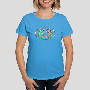 Peace Groovy Floral Women's Dark T-Shirt
