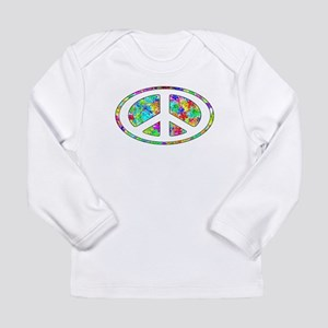 Peace Groovy Floral Long Sleeve Infant T-Shirt