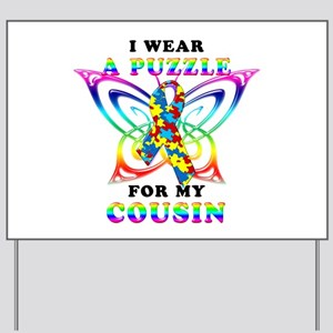 I Wear A Puzzle for my Cousin Yard Sign