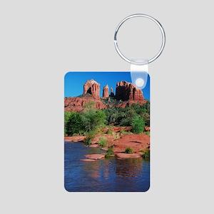 Cathedral Rock, Sedona Aluminum Photo Keychain