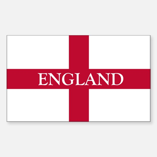 St. George's Cross Sticker (Rectangle)
