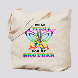 I Wear A Puzzle for my Brother Tote Bag