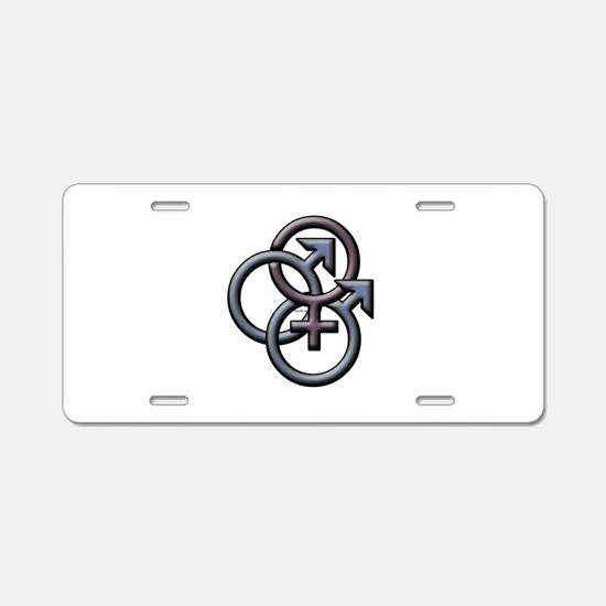 Funny Bisexual Aluminum License Plate