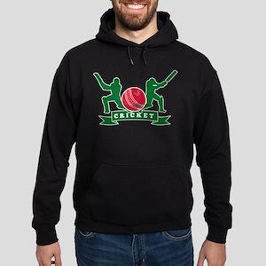 cricket batsman Hoodie (dark)