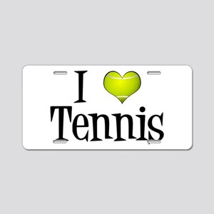 I Heart Tennis Aluminum License Plate