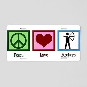 Peace Love Archery Aluminum License Plate