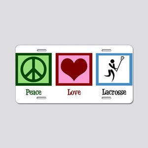 Peace Love Lacrosse Aluminum License Plate