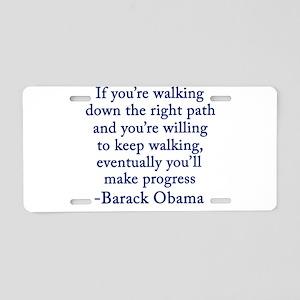 Progressive Obama Aluminum License Plate