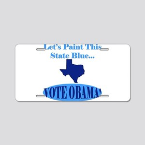 Democratic Texans Aluminum License Plate