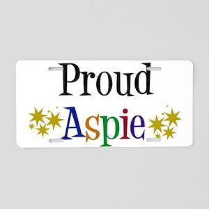 Proud Aspie Aluminum License Plate