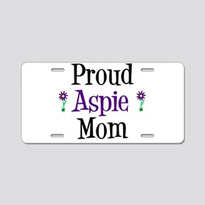 Proud Aspie Mom Aluminum License Plate