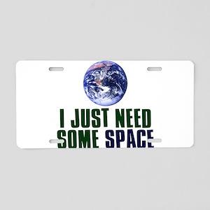 Astronaut Humor Aluminum License Plate