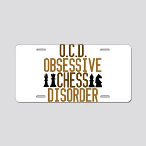 Funny Chess Addict Aluminum License Plate
