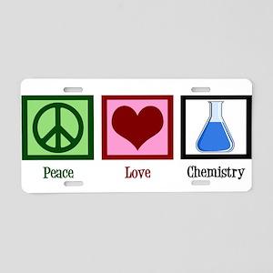 Peace Love Chemistry Aluminum License Plate