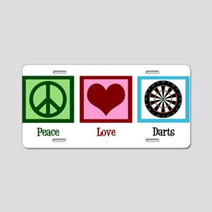 Peace Love Darts Aluminum License Plate