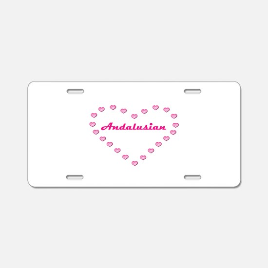 Andalusian Valentine Aluminum License Plate