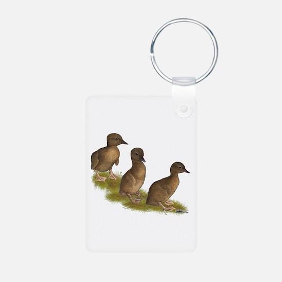 Chocolate Runner Ducklings Keychains