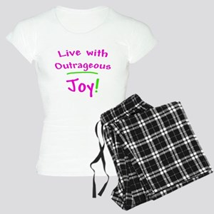 Pink Live With Outrageous Joy Women's Light Pajama