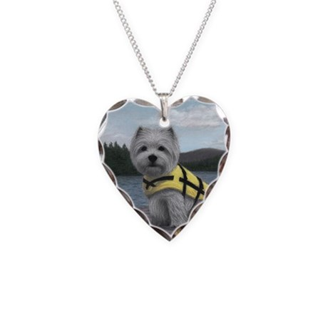 Truman at the Lake Necklace Heart Charm