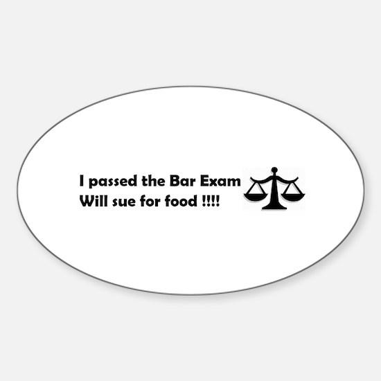 Unique Bar exam Sticker (Oval)
