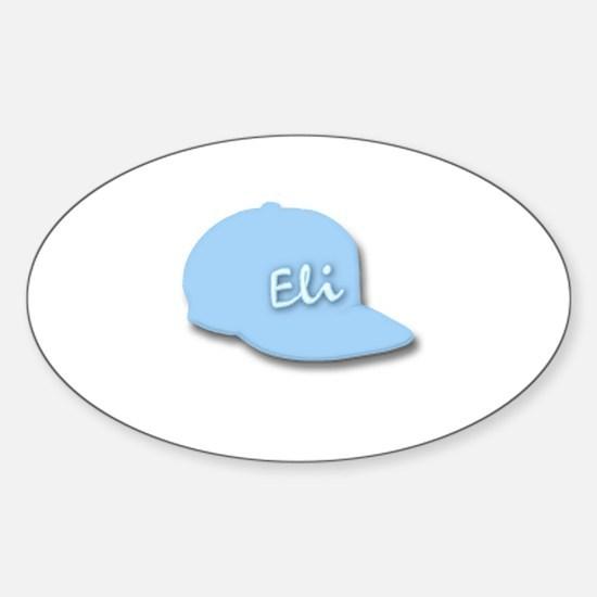 Eli's Baseball Cap Oval Decal
