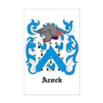 Acock Coat of Arms Mini Poster Print