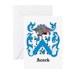 Acock Coat of Arms Greeting Cards (Pk of 10)