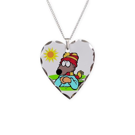 Groundhogs Day Necklace Heart Charm